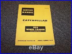 CAT Caterpillar 922 Wheel Loader Workshop Shop Service Repair Manual 59A1-UP