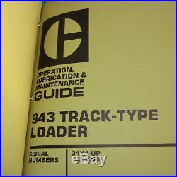 CAT Caterpillar 943 Track Loader Repair Shop Service Manual crawler owner book
