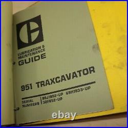CAT Caterpillar 951 Track Crawler Loader Repair Shop Service Manual owner book