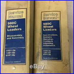CAT Caterpillar 980C SERVICE SHOP REPAIR MANUAL WHEEL LOADER 3406 sn 2XD 13B 63X
