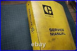 CAT Caterpillar 980C Wheel Loader Repair Shop Service Manual book owner factory