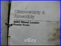 CAT Caterpillar 980C Wheel Loader Shop Service Manual repair front end overhaul