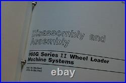 CAT Caterpillar 980G Wheel Loader Repair Shop Service Manual front end owner OEM