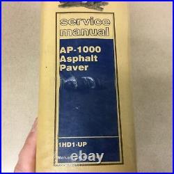 CAT Caterpillar AP-1000 SERVICE SHOP REPAIR MANUAL ASPHALT PAVER MAINT GUIDE 1HD