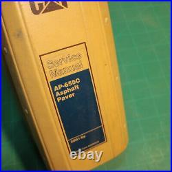 CAT Caterpillar AP-655C Asphalt Paver Shop Service Manual repair paving owner CD