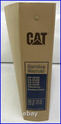 CAT Caterpillar CP/CS-563D 573D 583D SERVICE SHOP REPAIR MANUAL COMPACTOR GUIDE