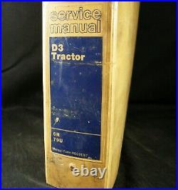 CAT Caterpillar D3 Crawler Tractor Dozer Shop Service Repair Manual 6N 79U OEM
