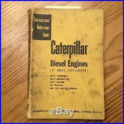 CAT Caterpillar D311 DIESEL ENGINE SERVICE MANUAL SERVICEMENS REFERENCE D2 212+