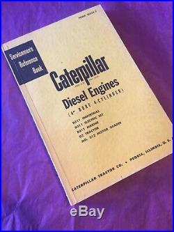 CAT Caterpillar D311 DIESEL ENGINE SERVICE MANUAL SERVICEMENS REFERENCE D2 212