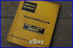 CAT Caterpillar D333 G333 Diesel Engine Service Manual repair shop overhaul book
