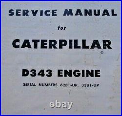 CAT Caterpillar D343 Diesel Engine Service Manual Repair Shop book overhaul 1961