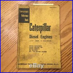 CAT Caterpillar D4400 DIESEL ENGINE SERVICE MANUAL SERVICEMENS REFERENCE D4 #112