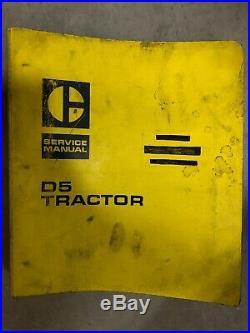 CAT Caterpillar D5 Tractor Dozer Crawler Service Manual Repair 93J-96J