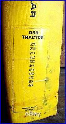 CAT Caterpillar D5B SERVICE SHOP REPAIR MANUAL TRACTOR BULLDOZER 22X 23X 24X 25X