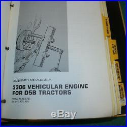 CAT Caterpillar D5B Tractor Dozer Crawler Repair Shop Service Manual owner SA 26