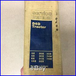 CAT Caterpillar D6D SERVICE SHOP REPAIR MANUAL TRACTOR 3X 4X 6X 20 30 31 74W 75W