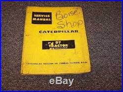 CAT Caterpillar D7 Track Type Bulldozer Dozer Tractor Shop Service Repair Manual