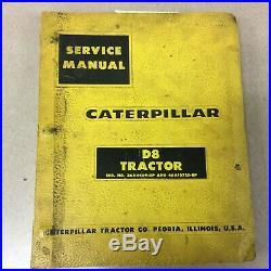CAT Caterpillar D8 D8H SERVICE SHOP REPAIR MANUAL TRACTOR 36A4469, 46A10725 &UP