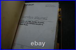 CAT Caterpillar E180 EL180 Excavator Service Manual repair shop crawler track