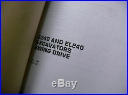 CAT Caterpillar E240 EL240 Excavator Repair Shop Service Manual trackhoe crawler