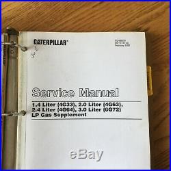 CAT Caterpillar GC15 GC18 GC20 25 CG30 SERVICE SHOP REPAIR MANUAL FORKLIFT TRUCK
