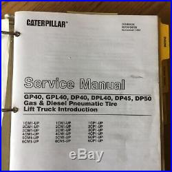 CAT Caterpillar GP GPL DPL40 DP45 DP50 SERVICE SHOP REPAIR MANUAL FORKLIFT TRUCK