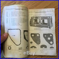CAT Caterpillar THIRTY 30 SERVICE MANUAL + PARTS BOOK TRACTOR sn S-1001 S-3100