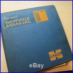 CAT ROYAL T165B T180B T200B T225B T250B T300B T330B Forklift Shop Service Manual