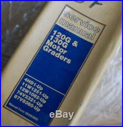 CATERPILLAR 120G 130G Motor Grader Repair Shop Service Manual owner operator