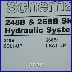 CATERPILLAR 248B 268B Skid steer Loader Hydraulic Schematic Manual service shop