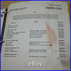 CATERPILLAR 3116 3126 HEUI Diesel Truck Engine Repair Shop Service Manual book