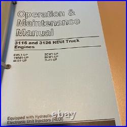 CATERPILLAR 3116 3126 HEUI Engine Shop Book Service Manual 8WL 1WM 4ES 2CW 3100