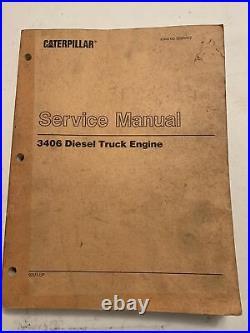 CATERPILLAR 3406 Diesel TRUCK Engine Service Manual shop guide overhaul workshop