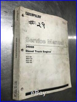 CATERPILLAR 3406B Truck Engine Shop Service Repair Manual