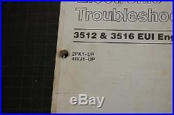 CATERPILLAR 3515 3516 ENGINE TRUCK Troubleshooting Service Manual repair shop