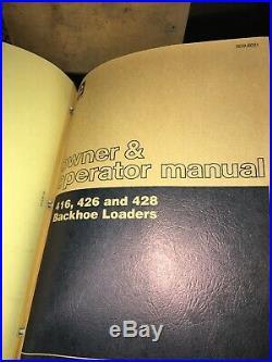 CATERPILLAR 416 426 Backhoe Loader Owner Operator Repair Shop Service Manual OEM