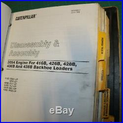 CATERPILLAR 416B 426B 428B 436B 438B Backhoe Loader Repair Shop Service Manual B