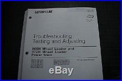 CATERPILLAR 966H 972H PT Testing Adjusting TROUBLESHOOTING Service Manual repair