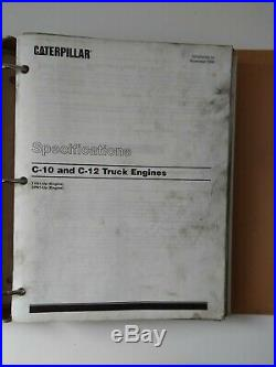 CATERPILLAR C-10 C-12 DIESEL TRUCK ENGINE SERVICE MANUAL S/N 1YN1-UP 2PN1-UP m4