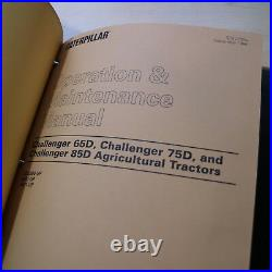 CATERPILLAR Challenger 65D 75D 85D Crawler Tractor Repair Shop Service Manual