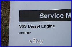 CATERPILLAR Forklift S6S Diesel Engine Service Manual repair CAT overhaul shop