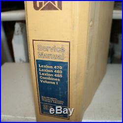 CATERPILLAR LEXION 470 480 485 Combine Repair Shop Service Manual System Testing