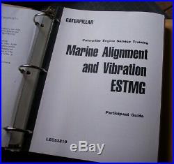 CATERPILLAR Marine Engine Analyst Pre-Class Study Manual service repair student
