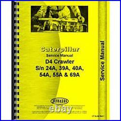 CT-S-D4 39A1 Service Manual Fits Caterpillar D4C Crawler