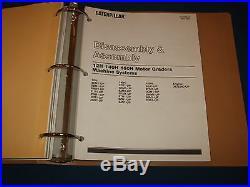 Cat Caterpillar 12h 140h 160h Motor Grader Service Shop Repair Book Manual Assem