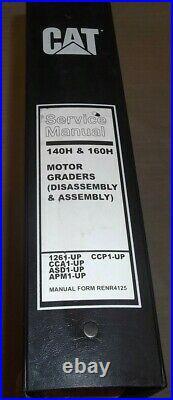 Cat Caterpillar 140h 160h Motor Grader Service Shop Repair Book Manual