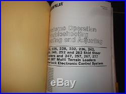 Cat Caterpillar 216 226 228 Skid Steer Loader Service Shop Repair Book Manual