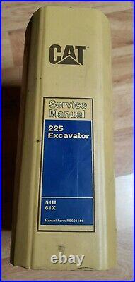 Cat Caterpillar 225 Excavator Service Manual service repair 51U 61x