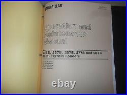 Cat Caterpillar 247b 257b Multi Terrain Loader Service Shop Repair Manual Book