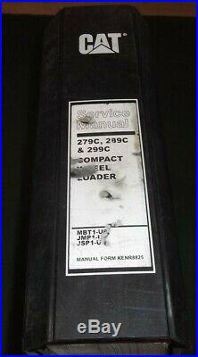 Cat Caterpillar 279c 289c 299c Compact Loader Service Shop Repair Manual Book